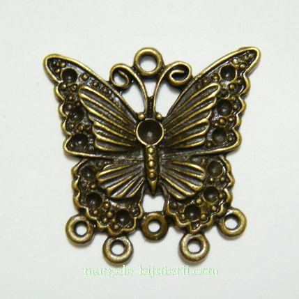 Cadru cercei/pandantiv fluturas bronz, 30x29mm 1 buc