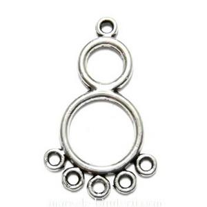 Cadru cercei/pandantiv, argint tibetan,  30x19x2mm 1 buc