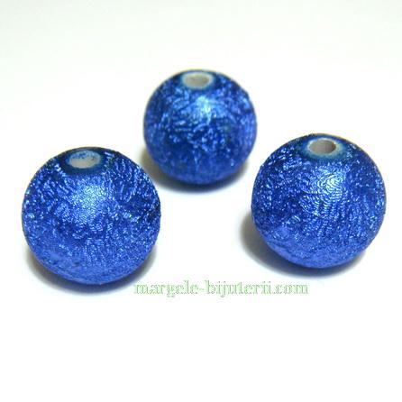 Margele acrilice albastre, 14mm 1 buc