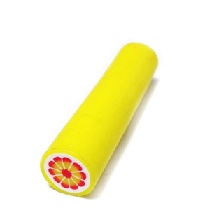 Bete fimo galben cu rosu, 50x10-11mm 1 buc