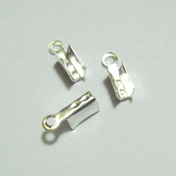 Capat prindere snur, argintiu, 10x2mm 1 buc
