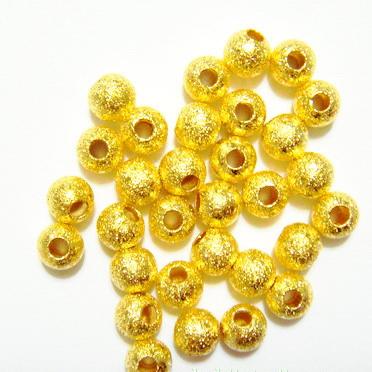 Margele metalice, stardust, aurii, 4mm 1 buc
