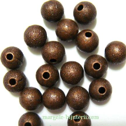Margele metalice, stardust, cupru, 6mm 1 buc