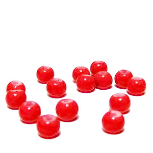 Margele sticla rosii, 4mm 10 buc