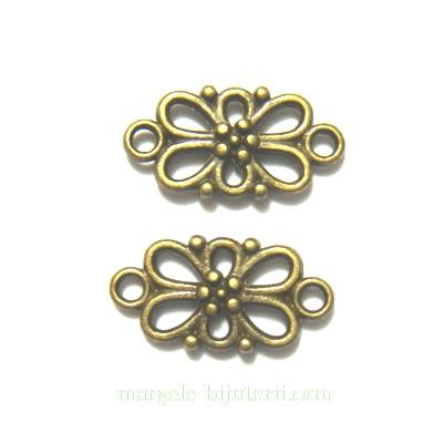 Conector/link bronz, floare 16x8x3mm 1 buc