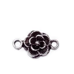 Conector/link tibetan, floare cu 6 petale, 17x10x2mm 1 buc