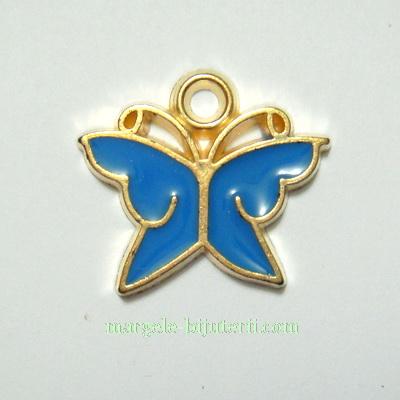 Martisor plastic, fluturas albastru, 22x25mm 1 buc