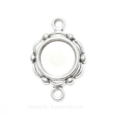 Conector / link cabochon, argint tibetan, 23x15mm, interior 10mm 1 buc