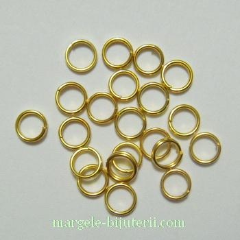 Zale duble aurii, 5x0.7mm 100 buc