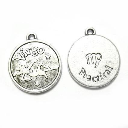Pandantiv tibetan, zodiac, FECIOARA, 20x17x3mm 1 buc