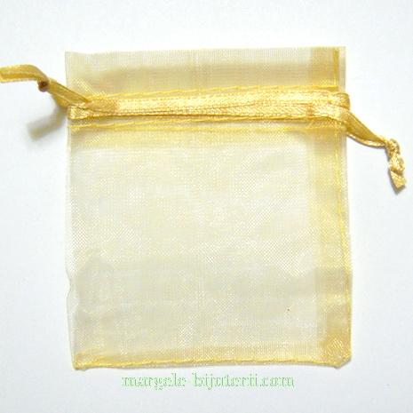 Saculeti organza aurii, 8x6.5 cm 1 buc