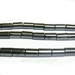 Hematite tubulare, nemagnetice, 5x3mm 1 buc