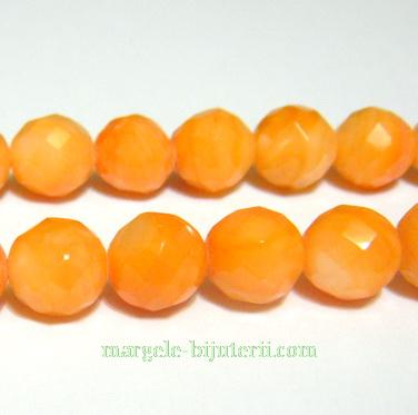 Sidef portocaliu, multifete, 7mm 1 buc