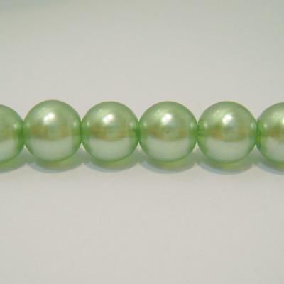 Perle sticla semitransparente verzi 10mm 10 buc