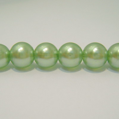 Perle sticla semitransparente verzi 14mm 1 buc