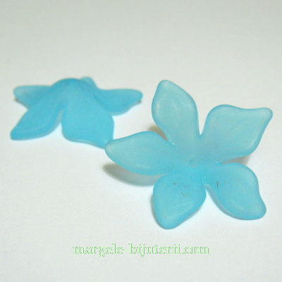 Flori acrilice, frosted, bleu, 29x8mm 1 buc