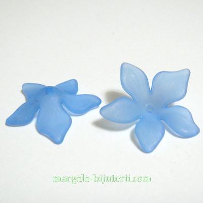 Flori acrilice, frosted, albastre, 29x8mm 1 buc