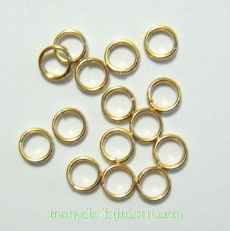 Zale duble placate cu aur, 5mm 10 buc