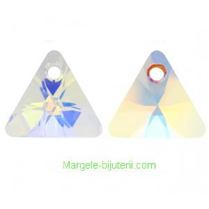 Swarovski Elements, Xilion Triangle 6628-Cristal AB, 16mm 1 buc