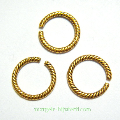 Zale/link, auriu-antic, 13x5mm 1 buc