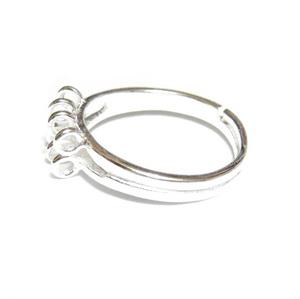 Baza inel, argintie, pe baza alama, latime 3-5mm, 8 bucle 1 buc
