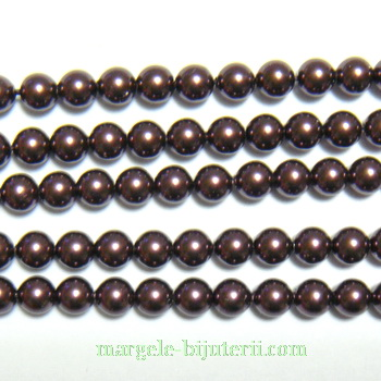 Swarovski Elements, Pearl 5810 Burgundy 4mm 1 buc