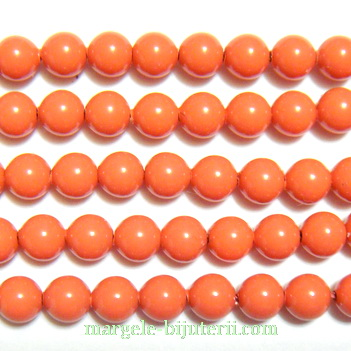 Swarovski Elements, Pearl 5810 Crystal Coral 6mm 1 buc