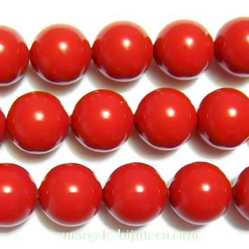 Swarovski Elements, Pearl 5810 Crystal Red Coral 8mm 1 buc