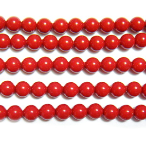 Swarovski Elements, Pearl 5810 Crystal Red Coral 4mm 1 buc