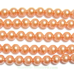 Swarovski Elements, Pearl 5810 Crystal Rose Peach 4mm 1 buc