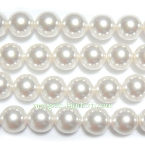 Swarovski Elements, Pearl 5810 Crystal White 6mm 1 buc
