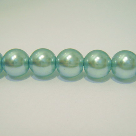 Perle sticla semitransparente albastre 16mm 1 buc