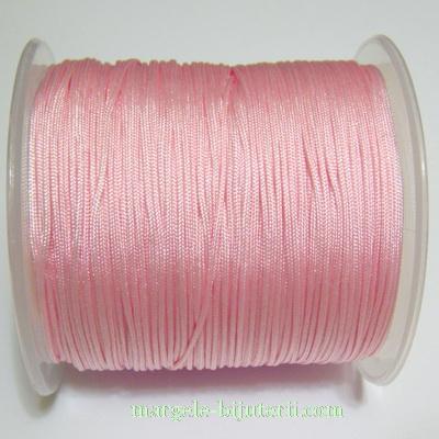 Snur matasos pentru bratari shamballa, roz, grosime 0.8mm 5 m