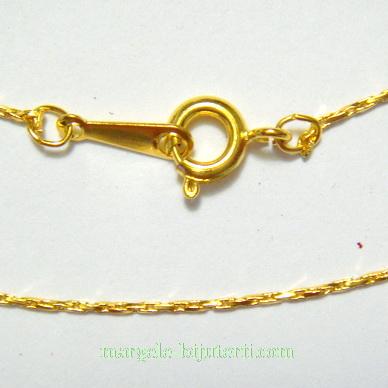 Lant auriu, pe baza alama, 420x0.5mm, cu inchizatoare 1 buc