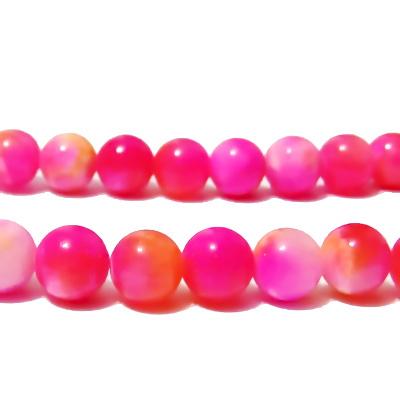 Jad roz-portocaliu, 8mm 1 buc