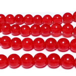 Agata rosu, sferic, translucid, 8mm 1 buc