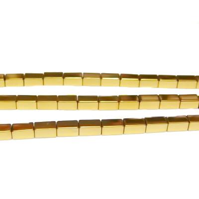 Hematite nemagnetice, aurii, placate, dreptunghi 4x2.3mm 1 buc