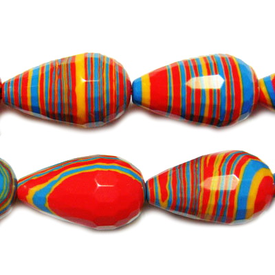 Compozit multicolor, multifete, lacrima 20x12mm 1 buc