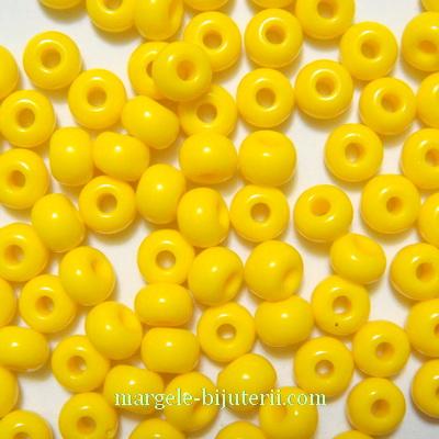 Margele nisip, Rocaille Preciosa 6/0-4mm, galbene, opace 20 g