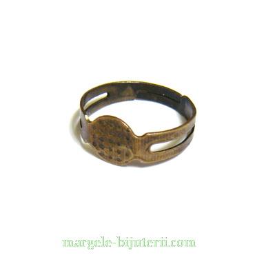 Baza inel, bronz, reglabila, platou: 8mm 1 buc