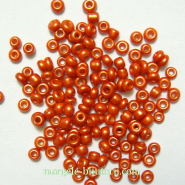Margele nisip, opace, perlate, caramizii, 2mm 20 g