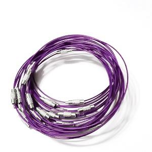 Baza bratara, cu inchizatoare, violet, diametru 6.5cm 1 buc