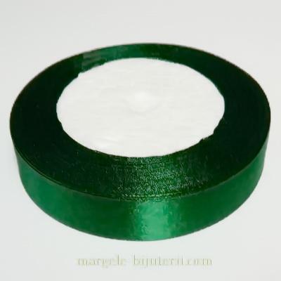 Saten verde inchis, latime 20mm, rola 22 metri 1 buc