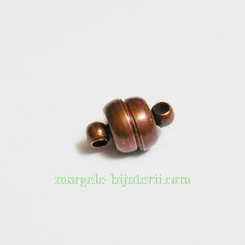 Inchizatoare magnetica din alama, culoare cupru, 11x7mm 1 buc