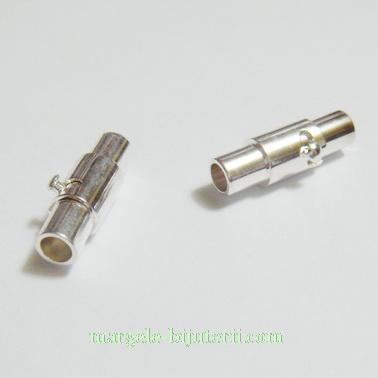 Inchizatoare magnetica, cu siguranta, argintie, tub 15x4mm, orif.3mm 1 set