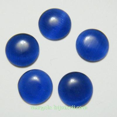 Cabochon ochi de pisica, albastru, 10x3mm 1 buc