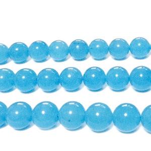 Jad culoare aquamarine, 6mm 1 buc