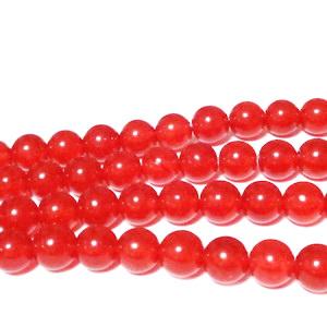 Jad translucid, rosu inchis cu portocaliu , 6mm 1 buc