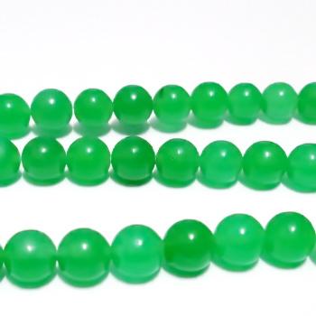 Jad translucid, verde, 8mm 1 buc