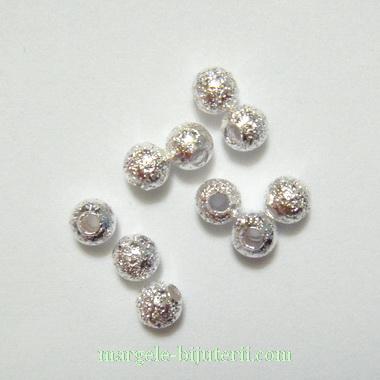 Margele stardust, placate cu argint, 4mm 1 buc